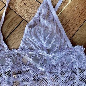 La Perla Embroidered Lace Triangle Chemise